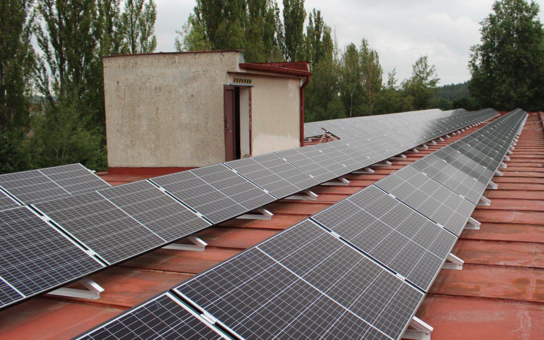 Fotovoltaická elektrárna 99,83kWp s bateriovým uložištěm na průmyslovém objektu v obci Hudčice
